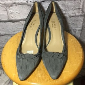 Talbots Gray Suede Leather Heels ~ Made In Brazil